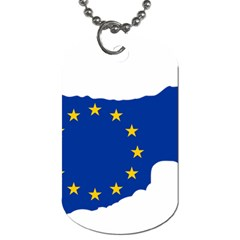European Flag Map Of Cyprus  Dog Tag (two Sides)