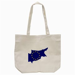 European Flag Map Of Cyprus  Tote Bag (cream)