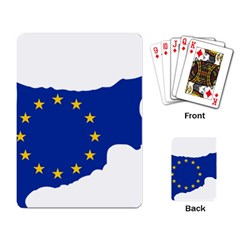 European Flag Map Of Cyprus  Playing Card