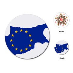 European Flag Map Of Cyprus  Playing Cards (round)