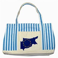 European Flag Map Of Cyprus  Striped Blue Tote Bag