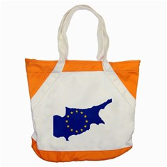 European Flag Map Of Cyprus  Accent Tote Bag
