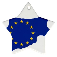 European Flag Map Of Cyprus  Star Ornament (two Sides)