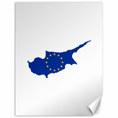 European Flag Map Of Cyprus  Canvas 18  X 24