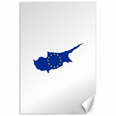 European Flag Map Of Cyprus  Canvas 20  X 30