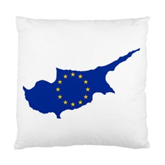 European Flag Map Of Cyprus  Standard Cushion Case (two Sides)