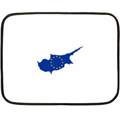 European Flag Map Of Cyprus  Double Sided Fleece Blanket (mini)