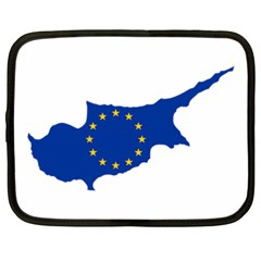 European Flag Map Of Cyprus  Netbook Case (xxl)