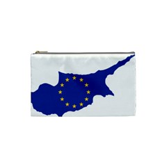 European Flag Map Of Cyprus  Cosmetic Bag (small)