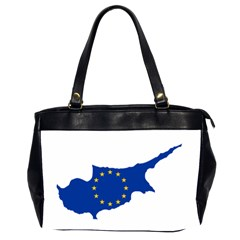 European Flag Map Of Cyprus  Office Handbags (2 Sides)