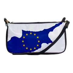 European Flag Map Of Cyprus  Shoulder Clutch Bags