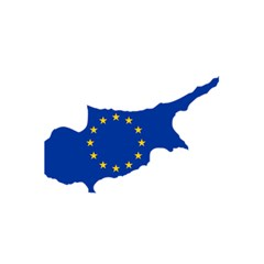 European Flag Map Of Cyprus  5 5  X 8 5  Notebooks