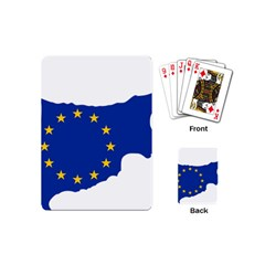 European Flag Map Of Cyprus  Playing Cards (mini)