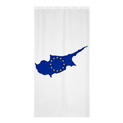 European Flag Map Of Cyprus  Shower Curtain 36  X 72  (stall)