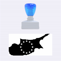 European Flag Map Of Cyprus  Rubber Stamps (medium)