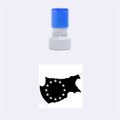 European Flag Map Of Cyprus  Rubber Round Stamps (small)