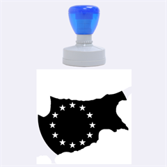European Flag Map Of Cyprus  Rubber Round Stamps (large)