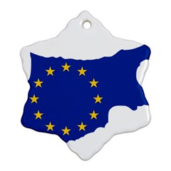European Flag Map Of Cyprus  Ornament (snowflake)