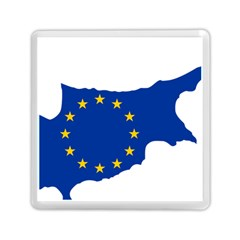 European Flag Map Of Cyprus  Memory Card Reader (square)