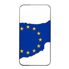 European Flag Map Of Cyprus  Apple Iphone 4/4s Seamless Case (black)