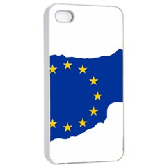 European Flag Map Of Cyprus  Apple Iphone 4/4s Seamless Case (white)