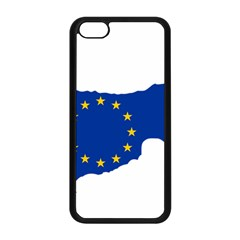 European Flag Map Of Cyprus  Apple Iphone 5c Seamless Case (black)
