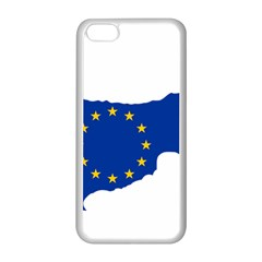 European Flag Map Of Cyprus  Apple Iphone 5c Seamless Case (white)