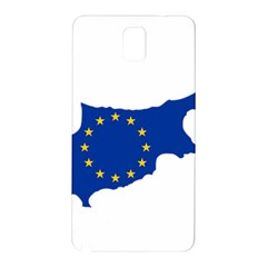 European Flag Map Of Cyprus  Samsung Galaxy Note 3 N9005 Hardshell Back Case