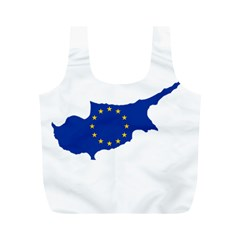 European Flag Map Of Cyprus  Full Print Recycle Bags (m)