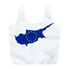 European Flag Map Of Cyprus  Full Print Recycle Bags (l)  by abbeyz71