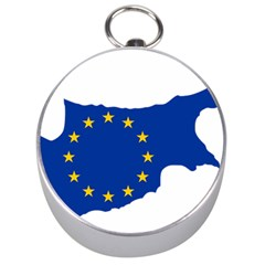 European Flag Map Of Cyprus  Silver Compasses