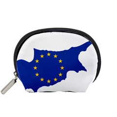 European Flag Map Of Cyprus  Accessory Pouches (small)
