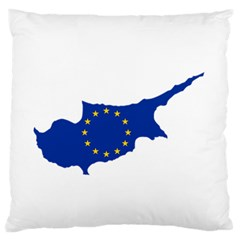 European Flag Map Of Cyprus  Standard Flano Cushion Case (two Sides)