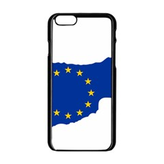 European Flag Map Of Cyprus  Apple Iphone 6/6s Black Enamel Case