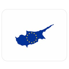 European Flag Map Of Cyprus  Double Sided Flano Blanket (medium)