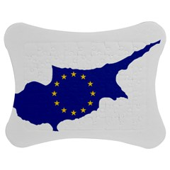 European Flag Map Of Cyprus  Jigsaw Puzzle Photo Stand (bow)