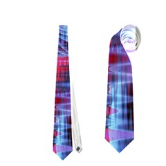 Crystal Northern Lights Palace, Abstract Ice  Neckties (two Side)  by DianeClancy