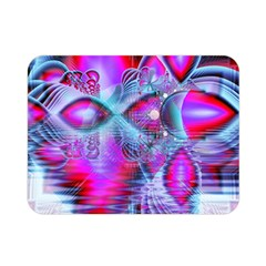 Crystal Northern Lights Palace, Abstract Ice  Double Sided Flano Blanket (mini)  by DianeClancy