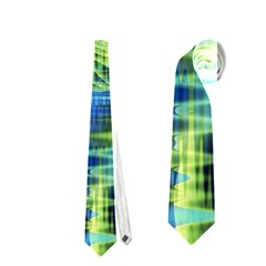 Crystal Lime Turquoise Heart Of Love, Abstract Neckties (one Side)  by DianeClancy