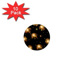 Golden Balls 1  Mini Magnet (10 Pack)  by Valentinaart