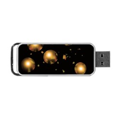 Golden Balls Portable Usb Flash (one Side) by Valentinaart