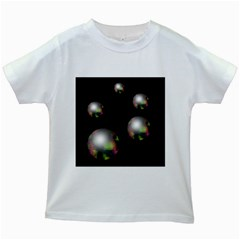 Silver Pearls Kids White T Shirts by Valentinaart
