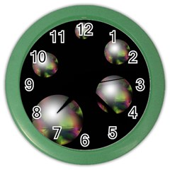 Silver Pearls Color Wall Clocks by Valentinaart