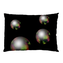 Silver Pearls Pillow Case by Valentinaart