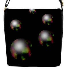 Silver Pearls Flap Messenger Bag (s) by Valentinaart