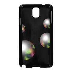 Silver Pearls Samsung Galaxy Note 3 Neo Hardshell Case (black) by Valentinaart