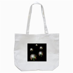 Silver Pearls Tote Bag (white)