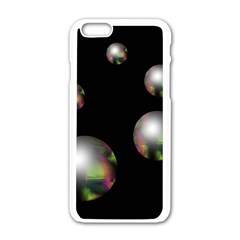 Silver Pearls Apple Iphone 6/6s White Enamel Case by Valentinaart