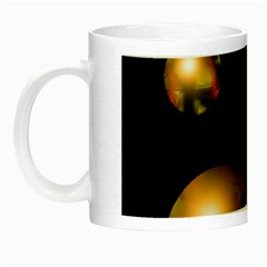 Golden Pearls Night Luminous Mugs by Valentinaart
