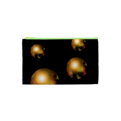 Golden Pearls Cosmetic Bag (xs) by Valentinaart
